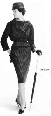 Pencil skirt designed by Christian Dior. Image can be found at http://sew-simple.com/sewing/pencil-skirt-history/
