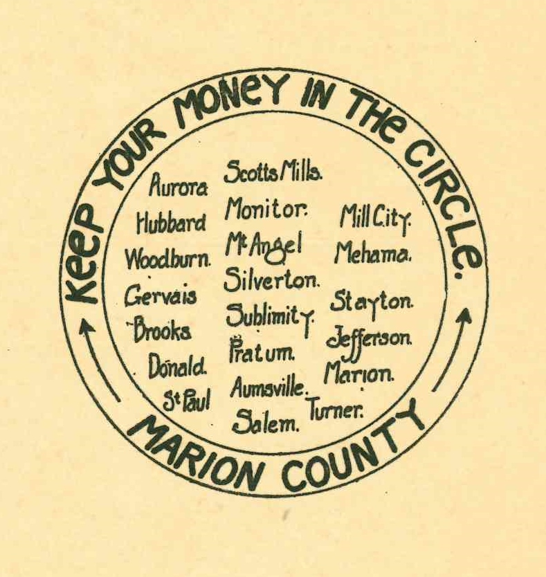 Logo from Marion County Facts Book, 1920.  WHC X2013.001.0004.002.