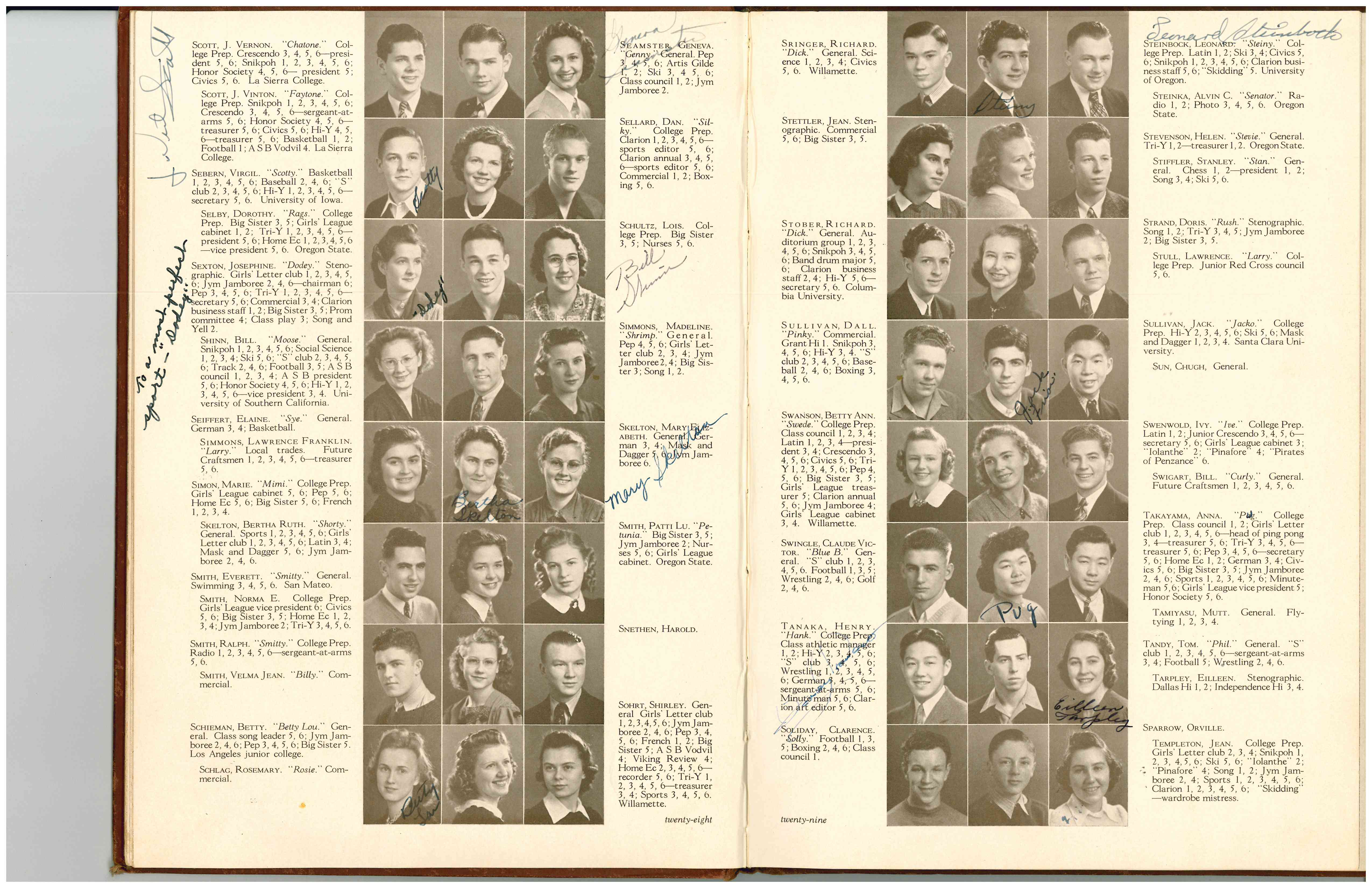 High School Yearbook Photo for Henry Tanaka, 1940.  WHC Collections X2011.001.0155.