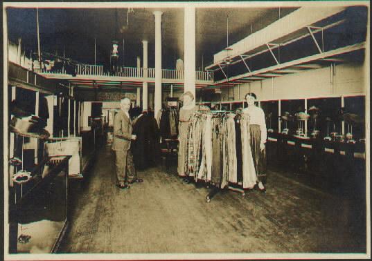 Interior view of Haniger Hat Shop. WHC 1994.056.0001
