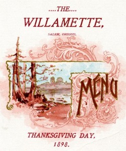 Thankgiving menu and program WHC 2004.003.0034