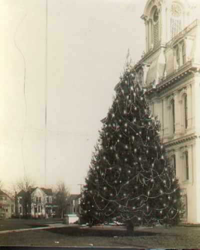 Salem's Christmas Tree on the grounds of the Marion County Courthouse. WHC 85.051.0013.012