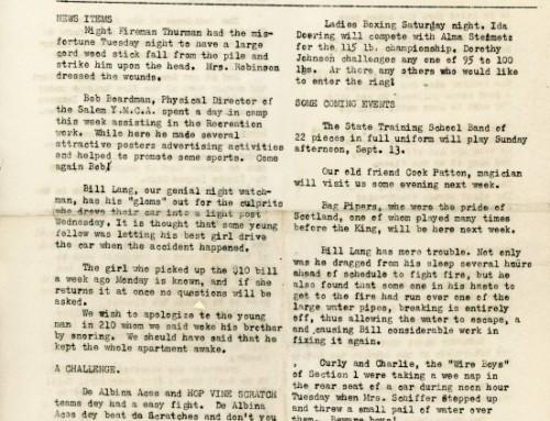 Hop Vine Scratch Newspaper, 1925