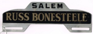 License plate holder. Al Black Collection, 2014.082.0182.