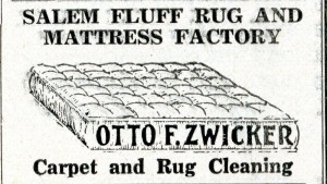 Advertisement for the Salem Fluff Rug and Mattress Factory, December 1940, Oregon Magazine.  WHC 2008.038.0145b