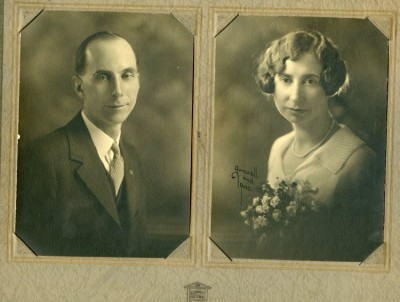 """Theron Silas """"Tom"""" and Golda M. Rominger Woolson.  1925.  WHC Collections 2016.101.0001.032"""