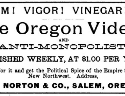 Mystery Man E.O. Norton and the Oregon Vidette