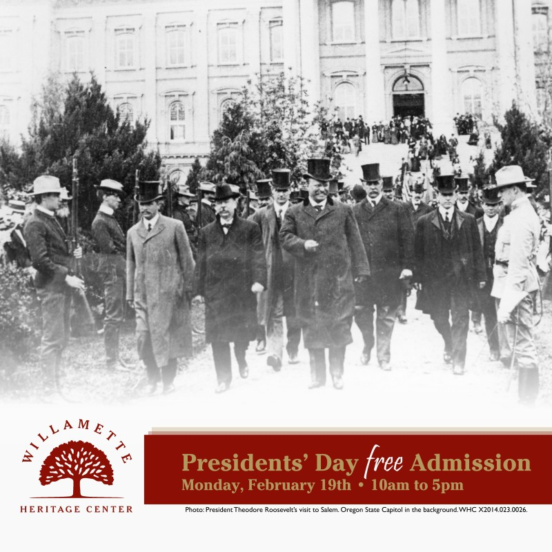 Presidents' Day - Museum Open, Free Admission! @ Willamette Heritage Center | Salem | Oregon | United States