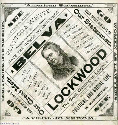 Handbill announding Belva Lockwood's visit to Salem, Oregon 1885