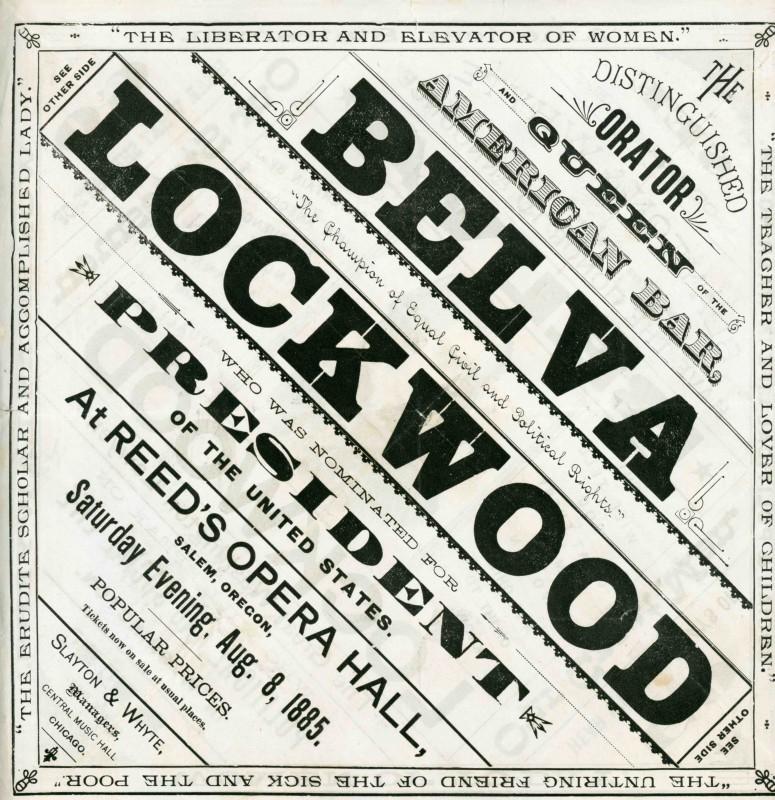 Belva Lockwood Handbill