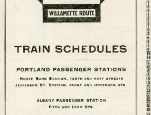 Oregon Electric Timetable, 1918