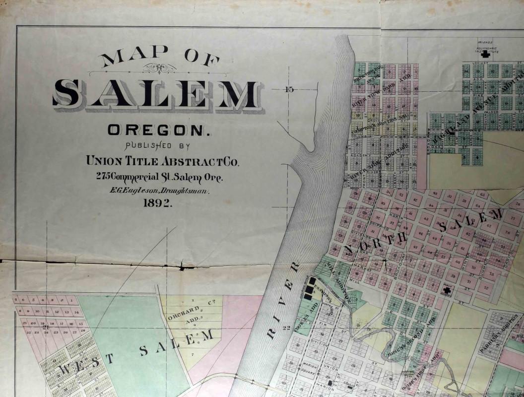 1892 Map Of Salem Willamette Heritage Center