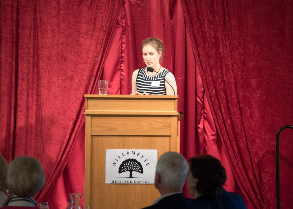 Curator, Kylie Pine, speaks at the 24th Annual Heritage Awards