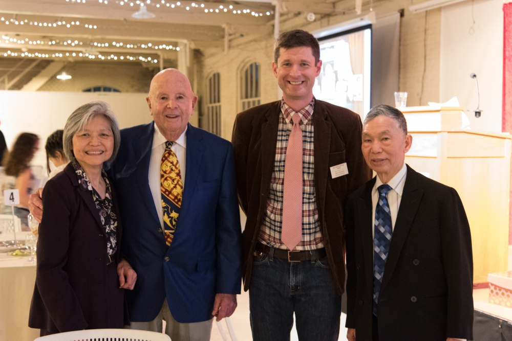 Mrs. Kwan, Gerry Frank, Bob Reinhardt, and Mr. Kwan at the 24th Annual Heritage Awards